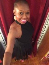 Bday pic in black dress